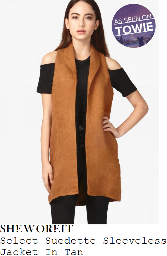 georgia-kousoulou-select-tan-brown-suedette-sleeveless-jacket