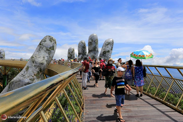 The Golden Bridge Which Adheres To Giant Hands  Is A New Attraction In Vietnam 4
