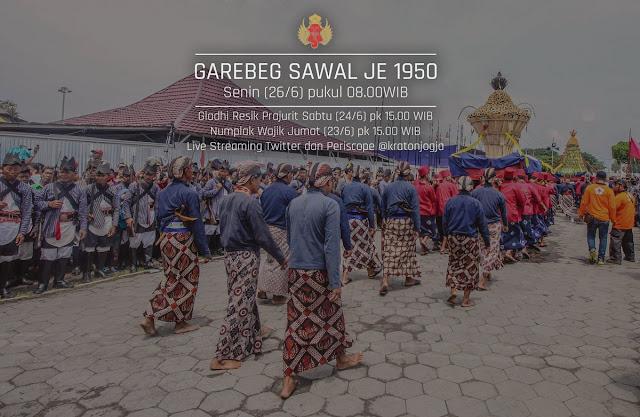 Wisata Budaya Garebeg Sawal 2017 di Kraton Jogja. Foto : https://twitter.com/kratonjogja.