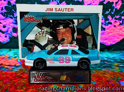 Jim Sauter #89 Evinrude Racing Champions 1/64 NASCAR diecast blog die age