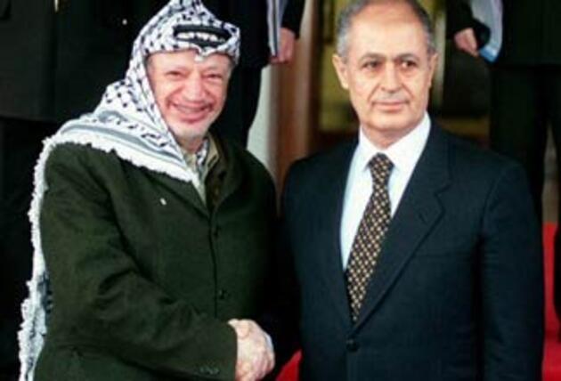 Yaser Arafat ve Ahmet Necdet Sezer