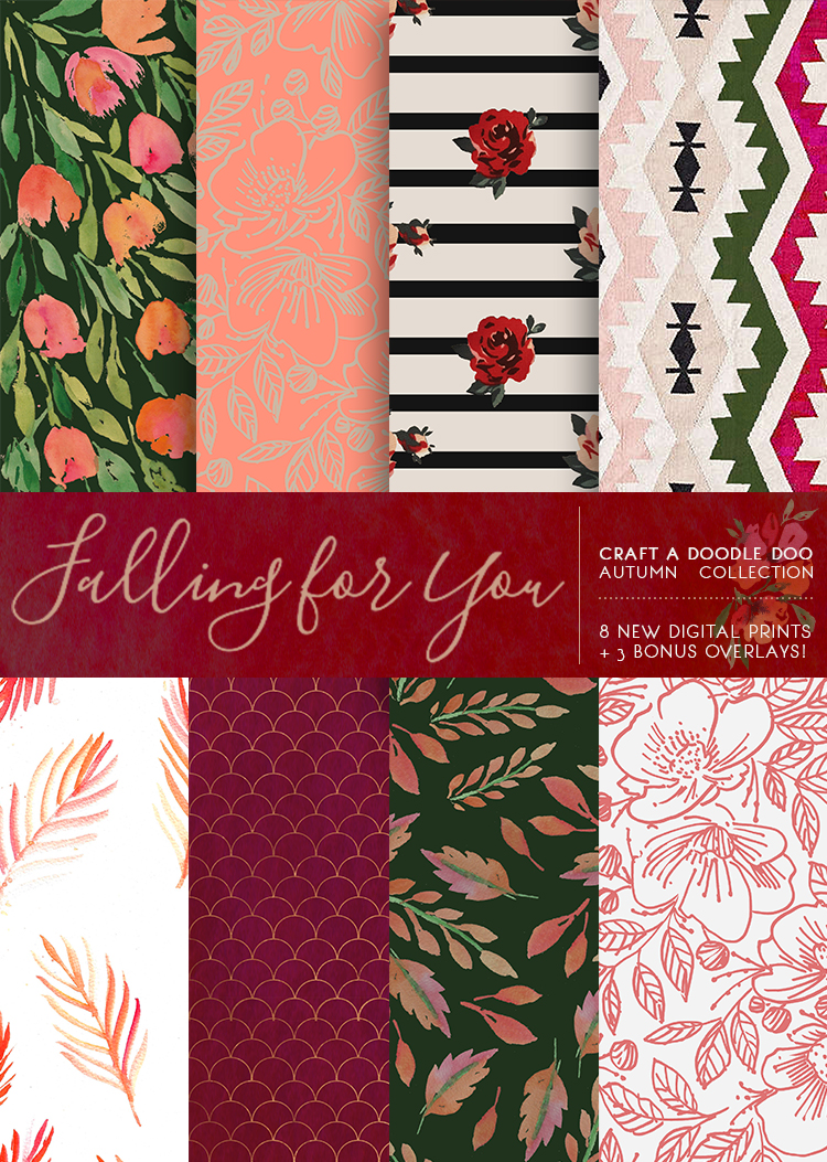 FREEBIE JUBILEE //  FALLING FOR YOU DIGITAL PRINTS COLLECTION (FALL 2017)