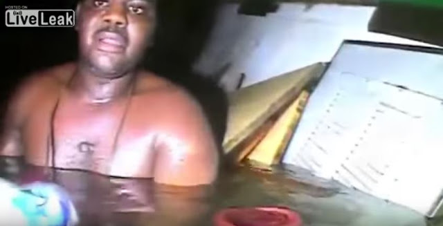 A Screen Capture From The Video Below:  Harrison Right After He Was Found Alive