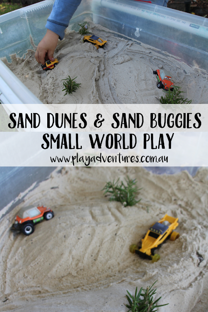 Pinterest image for sand dune small world play