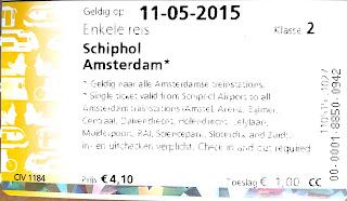 Билет из аэропорта airport Schiphol в Амстердам