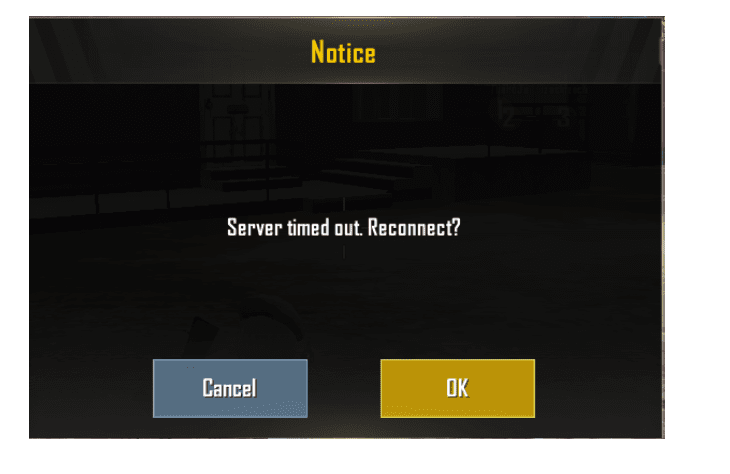 PUBG Server Timed Out. Please return to the login page and try again