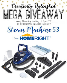 Enter to win a HomeRight Steam Machine 53, plus Creativity Unleashed link party! MyLove2Create