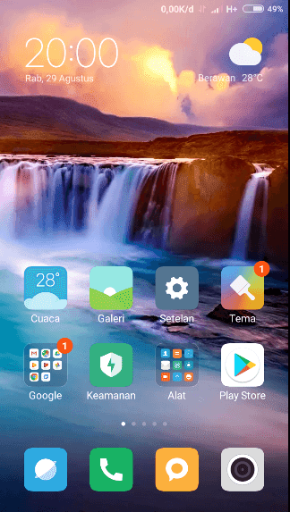 Menu Home Xiaomi