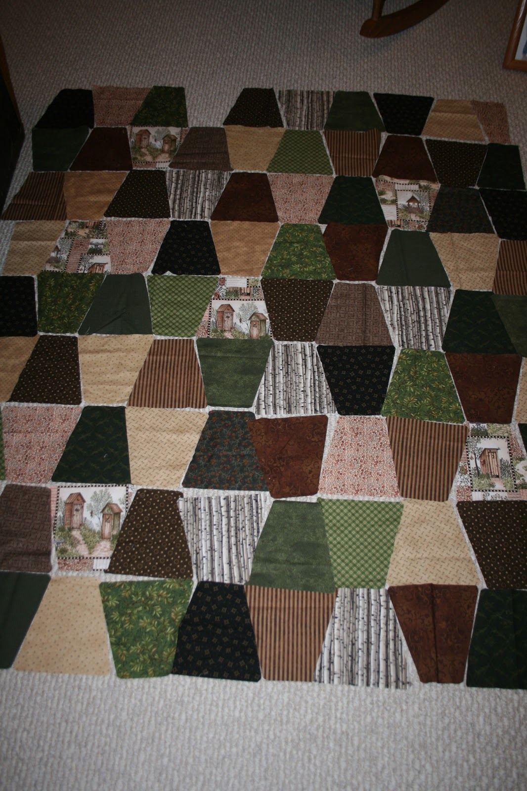Blonder Home ODE TO THE OUTHOUSE Anita Phillips Fabric ...   Outhouse Material