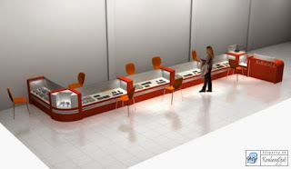 Kontraktor Interior - Etalase Handphone - SmartPhone Display Showcase