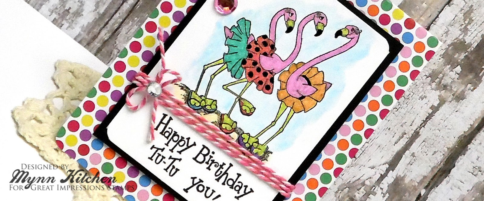 On A Stampage Great Impressions Flamingo Birthday – Designs of Cards for Birthday