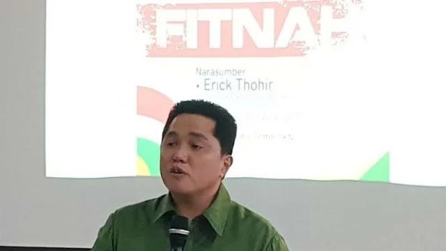 Ingin Pilpres Segera Usai, Erick Thohir Kangen Balik Berbisnis Lagi