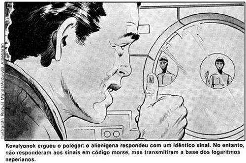 contato com aliens no espaço, ufologia, salyut-6