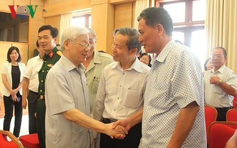 Tổng Bí thư Nguyễn Phú Trọng tiếp xúc cử tri