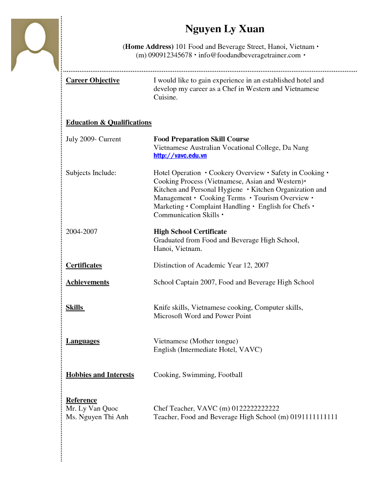 cv template word format download high school pinterest