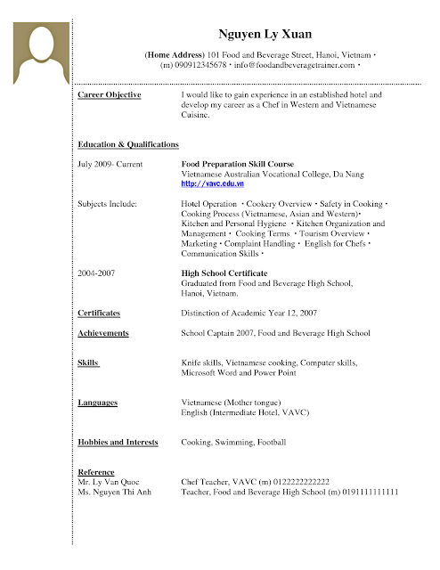 Sample Service Resume