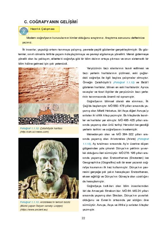 9. Sınıf Coğrafya Ders Kitabı Cevapları Fersa Yayınları Sayfa 22