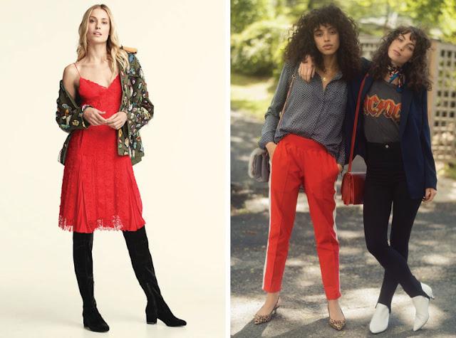 Тренды осень зима 2017 2018 красное платье и брюки