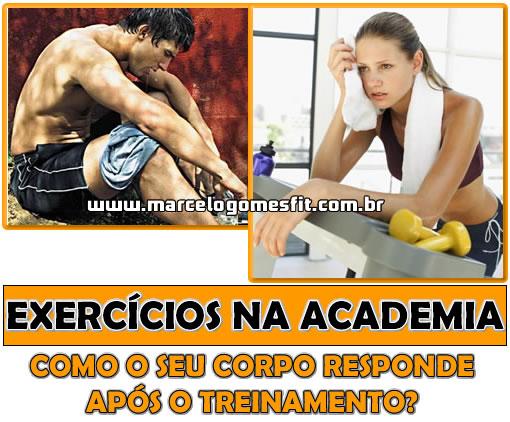 Exercícios na Academia - Como o seu corpo responde após o treinamento?