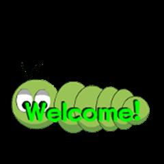Green caterpillar mokomoko