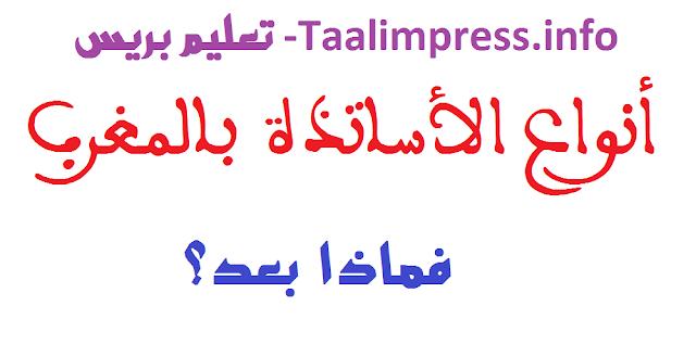 الأساتذة أصناف وأنواع بالمغرب