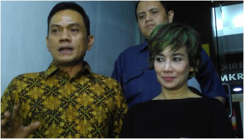 Reza Artamevia diperiksa di Polda Metro Jaya