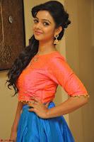 Nithya Shetty in Orange Choli at Kalamandir Foundation 7th anniversary Celebrations ~  Actress Galleries 078.JPG