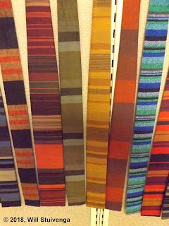 Picture of several Ernst ties close up