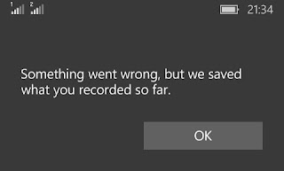 Voice Recorder Something went wrong