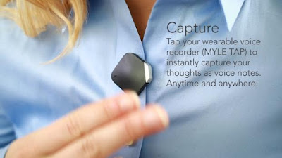 Myle Tap touch-activated wearable voice recorder