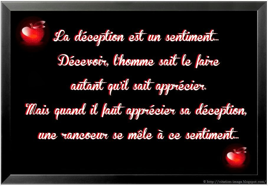 Exceptionnel Citation deception de la vie sur image ~ Citation en image : photo  GC94