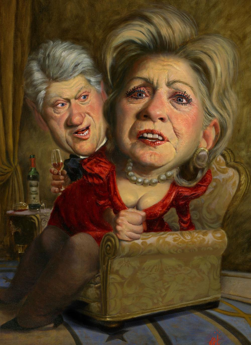 Los Clinton por Thomas Fluharty