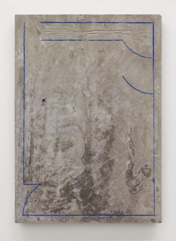 plan (cover), 2015 - coloured pencil on scratched concrete, 29 7 x 21 cm