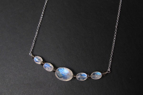 Spectacular oval moonstone necklace by Amelia Isa