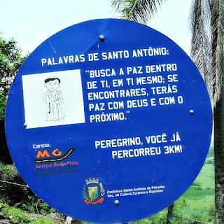 Placa de Três Quilômetros - Caminho de Santiago, Santo Antônio da Patrulha