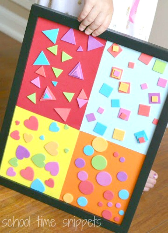 Sorting Shapes Collage for Preschoolers