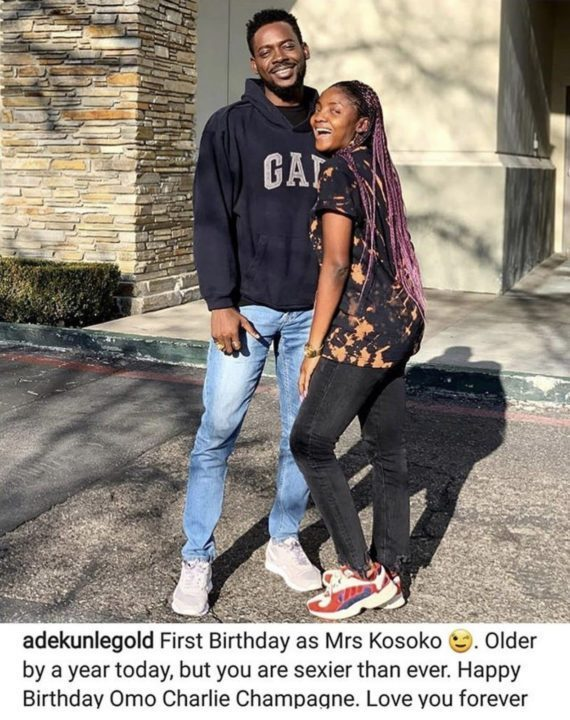You're sexier than ever - Adekunle Gold gushes over Simi on her birthday