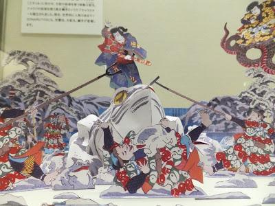 児雷也物語之内新潟浜辺之場(兵庫県立歴史博物館の会場で撮影)