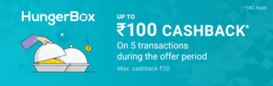 (5 Times) Phonepe- Get 100% Cashback on Transaction via Phonepe at HungerBox (Max Rs 20)