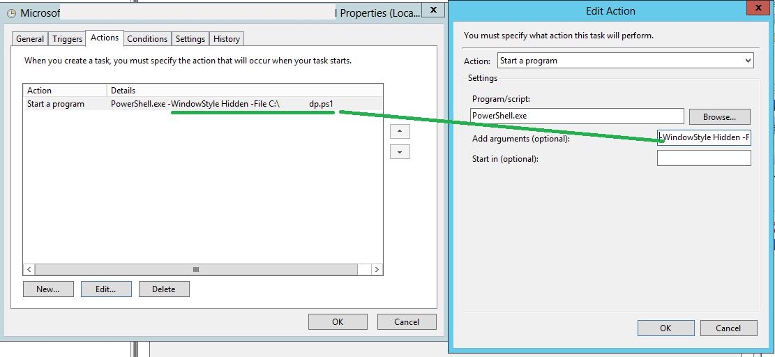 Run PowerShell script in Task Scheduler