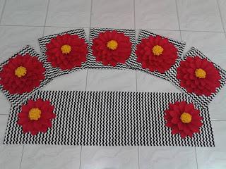 sarung bantal kursi bunga flanel