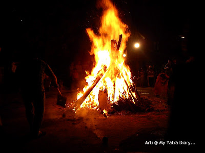 Holika Dahan bonfire