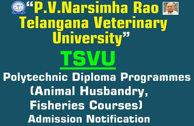 TSVU,Polytechnic Animal Husbandry,Fisheries courses,admission notification