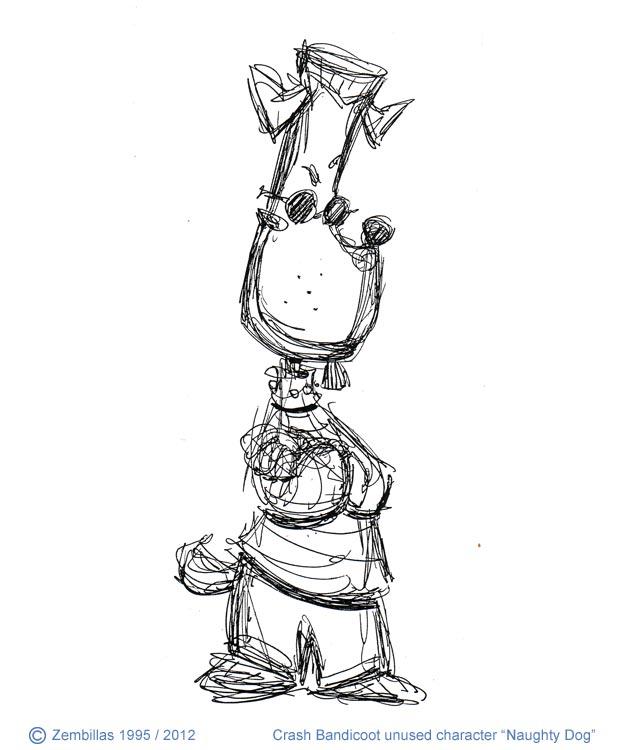 Charles Zembillas Crash Bandicoot Unused Naughty Dog