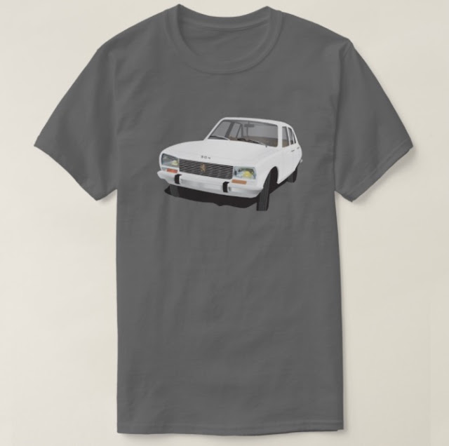 Classic Peugeot 504 t-shirt illustration