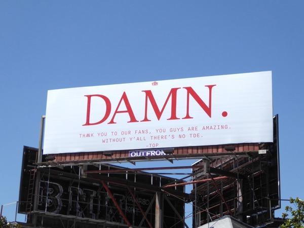 Damn kendrick Lamar billboard