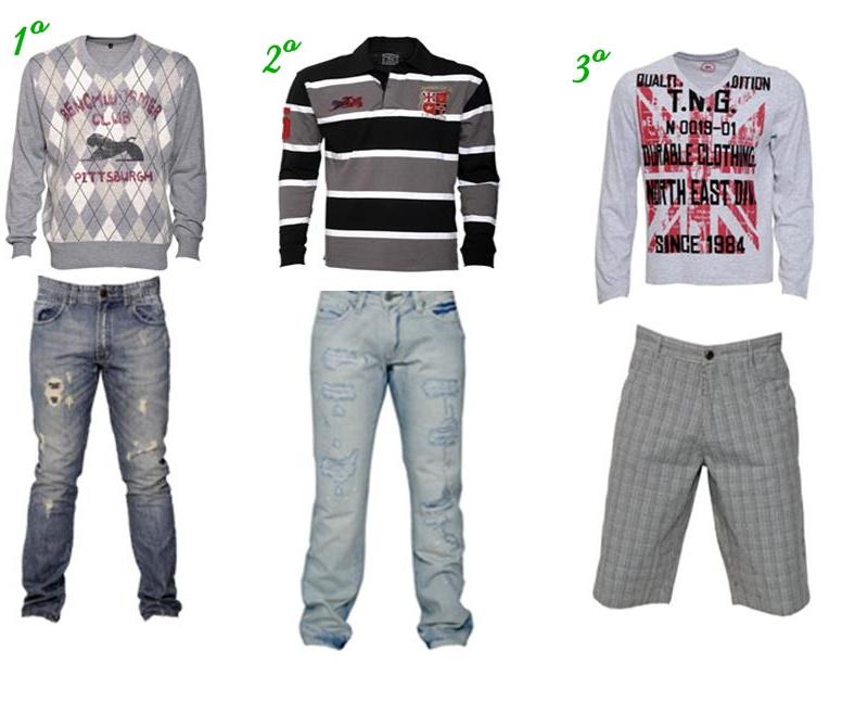 f3d31a3fe5 1º Retilínea escocesa V com essa calça jeans média clara está um arraso! A  calça jeans com esses detalhes