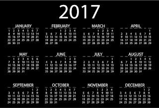 2017カレンダー無料テンプレート29
