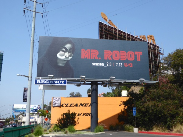 Mr Robot season 2.0 billboard Sunset Strip
