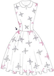Langkah 5. Cara mudah menggambar Long Dress Motif Bunga